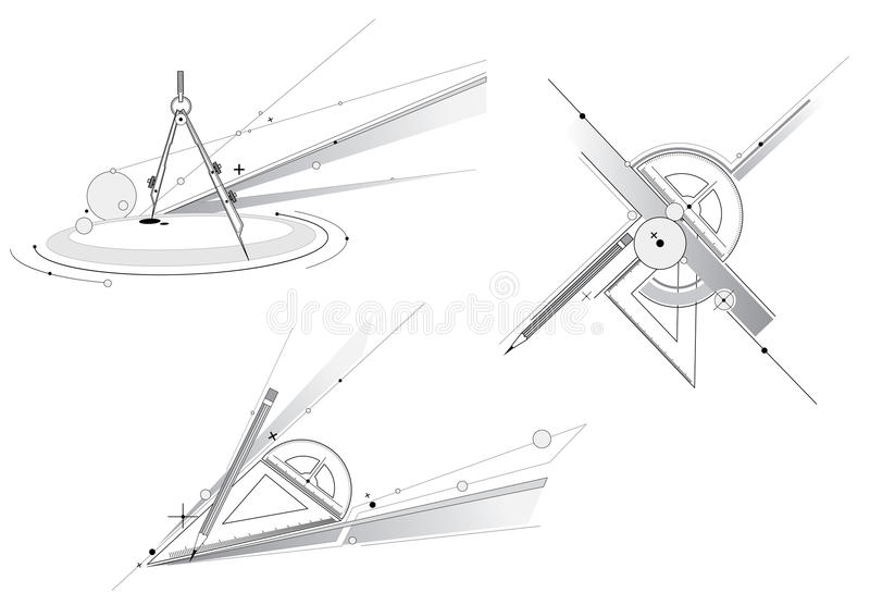 Geometry Tool Royalty Free Stock Photo