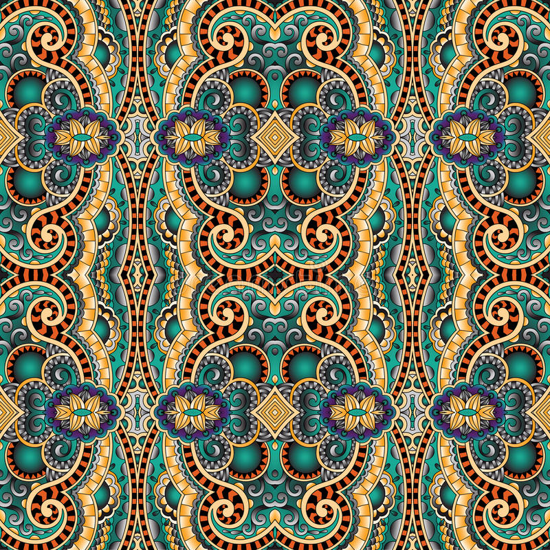 Geometry vintage floral seamless pattern vector illustration