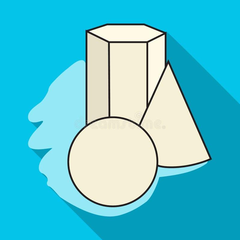 Geometryczna życie ikona w mieszkanie stylu odizolowywającym na białym tle wciąż Artysta i rysunkowy symbolu zapasu wektor ilustracja wektor