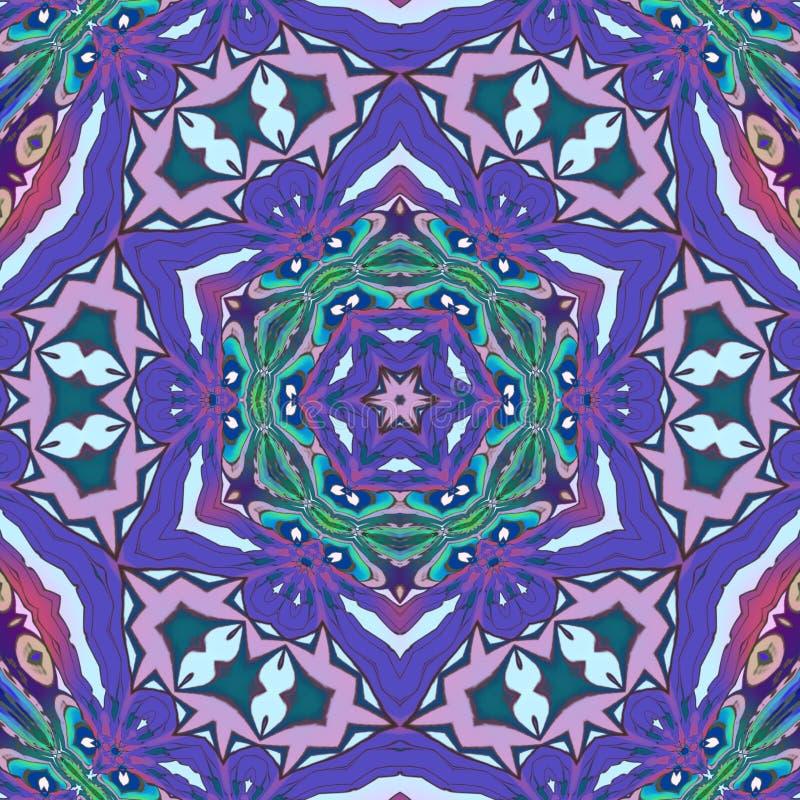 Geometryczna Abstrakcjonistyczna cyfrowa sztuka z mnóstwo szczegółami royalty ilustracja