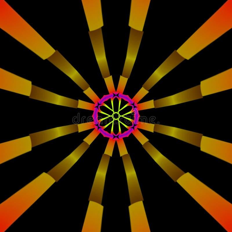 Geometryczna Abstrakcjonistyczna cyfrowa sztuka z mnóstwo szczegółami ilustracja wektor