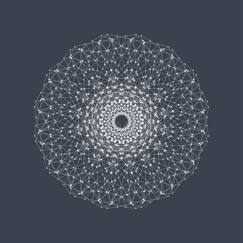 Geometryczna abstrakt forma z związaną linią i kropkami Graficzny tło dla twój projekta również zwrócić corel ilustracji wektora ilustracja wektor