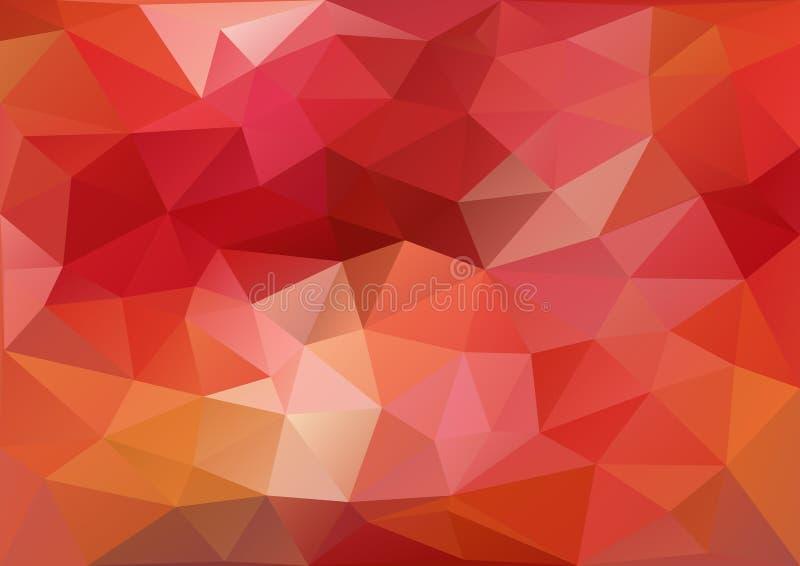 geometryczna deseniowa czerwień royalty ilustracja