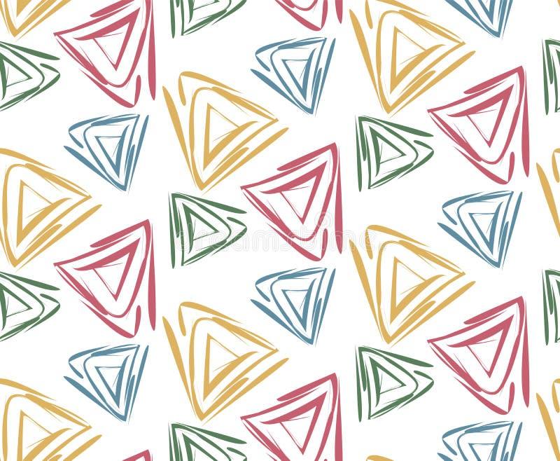 Geometryczna deseniowa ilustracja z trójbokami ilustracji