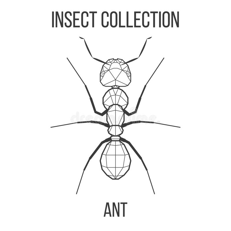 Geometryczna mrówki ikona ilustracja wektor