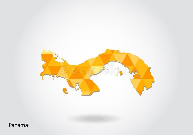 Geometryczna poligonalna stylowa wektorowa mapa Panama Niska poli- mapa Panama royalty ilustracja