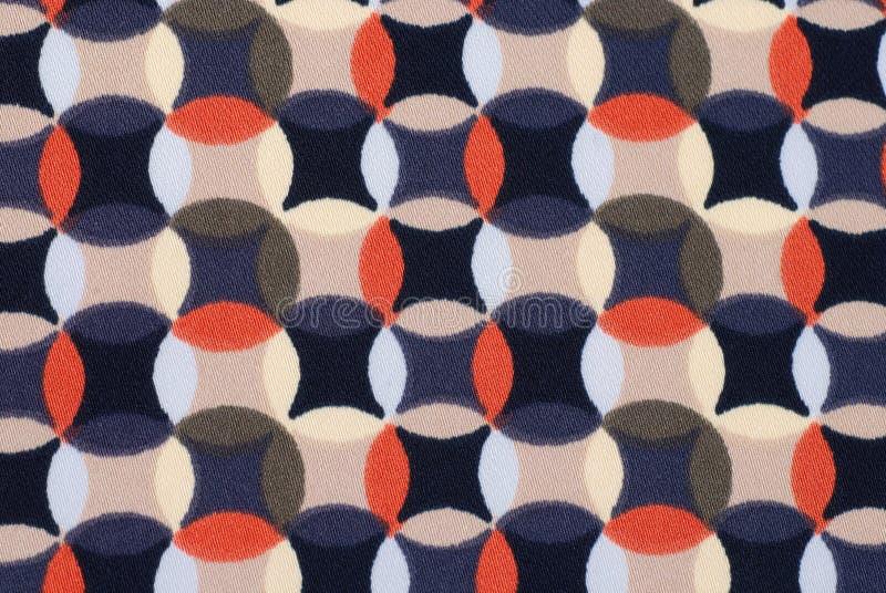 Geometryczna retro deseniowa tkanina zdjęcie stock