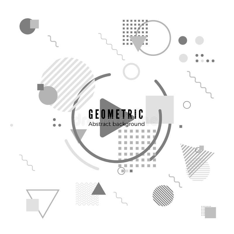 Geometryczna ruchu projekta tekstura Prosty geometria wzór z ramą i tekstem Tożsamość sztandaru druk wektor ilustracja wektor