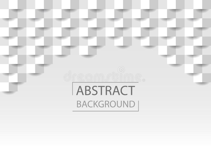 Geometryczna tło tekstura z kształtem kwadraty Popielata abstrakcjonistyczna tekstura dla strony internetowej tła, biznesowe pokr ilustracja wektor