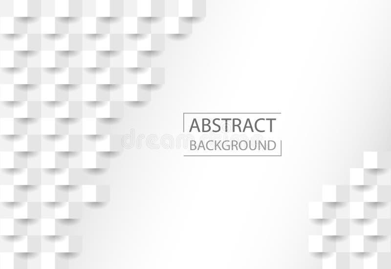 Geometryczna tło tekstura z kształtem kwadraty Popielata abstrakcjonistyczna tekstura dla strony internetowej tła, biznesowe pokr royalty ilustracja