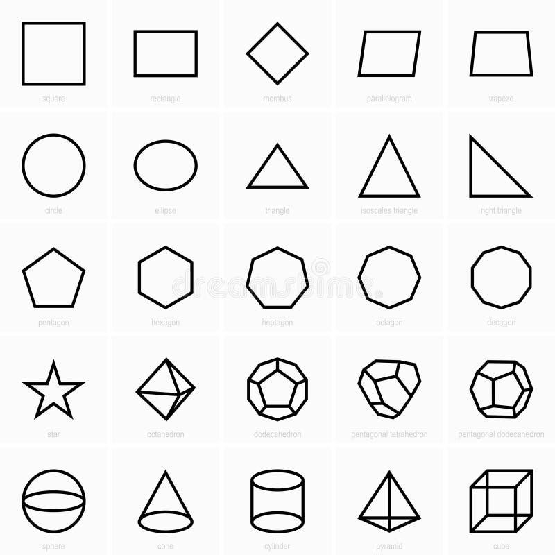 Geometryczne postaci ikony royalty ilustracja