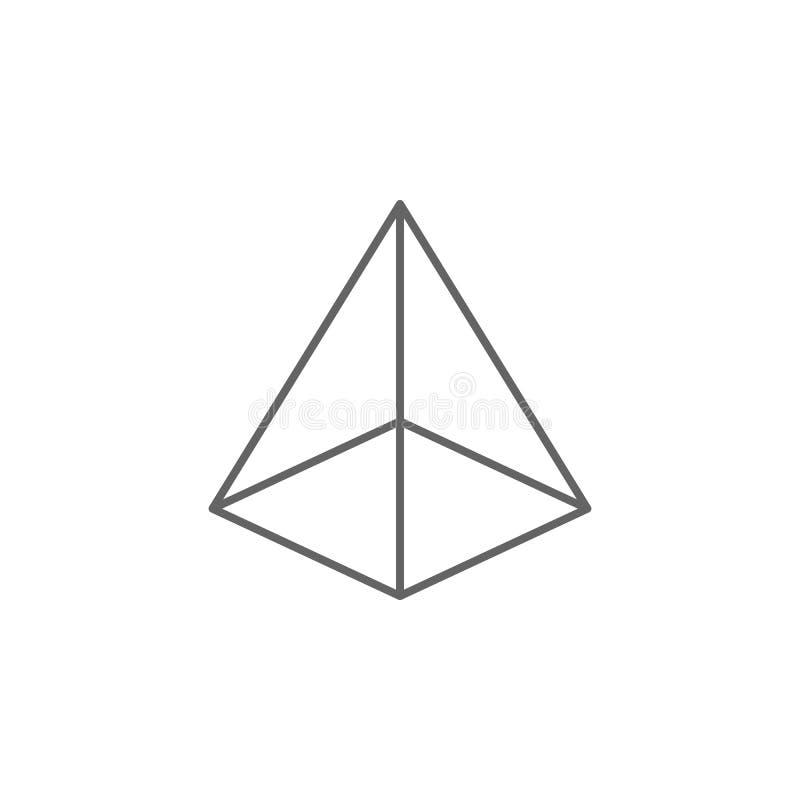Geometryczne postacie, obciosują zasadzoną ostrosłupa konturu ikonę Elementy geometryczna postaci ilustracji ikona Znaki i symbol royalty ilustracja