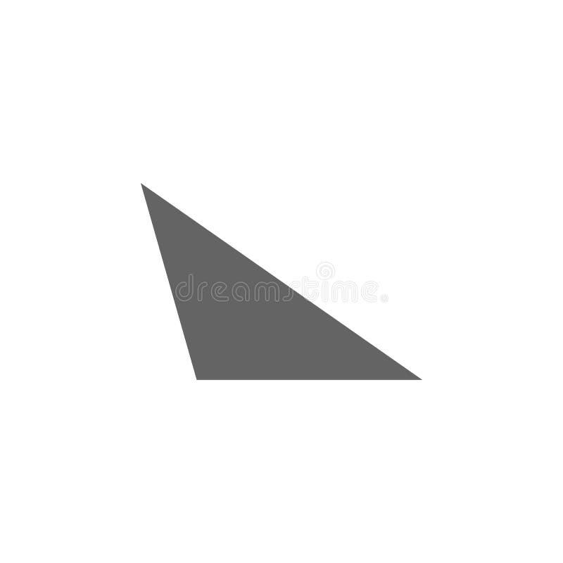 Geometryczne postacie, różnoboczna ikona Elementy geometryczna postaci ilustracji ikona Znaki i symbole mog? u?ywa? dla sieci, lo royalty ilustracja