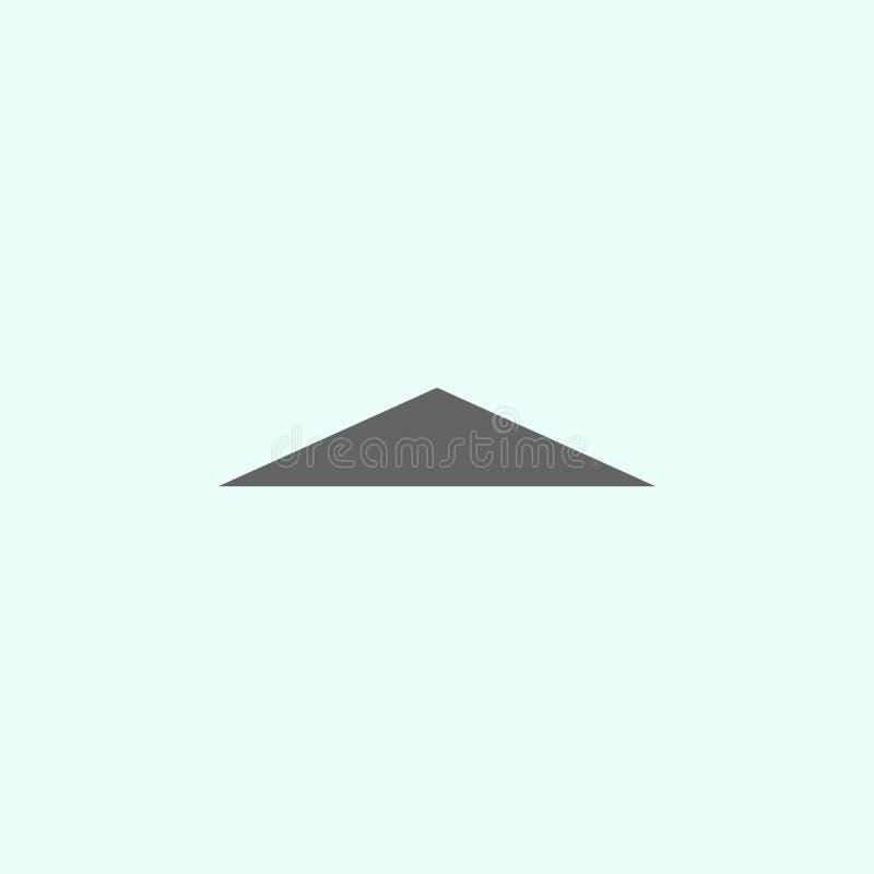 Geometryczne postacie, r?wnoramiennego tr?jboka ikona Elementy geometryczna postaci ilustracji ikona Znaki i symbole mog? u?ywa?  ilustracji