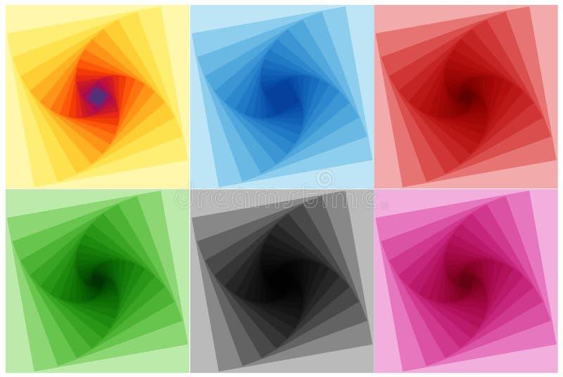 geometryczne spektralne przemiany obraz stock