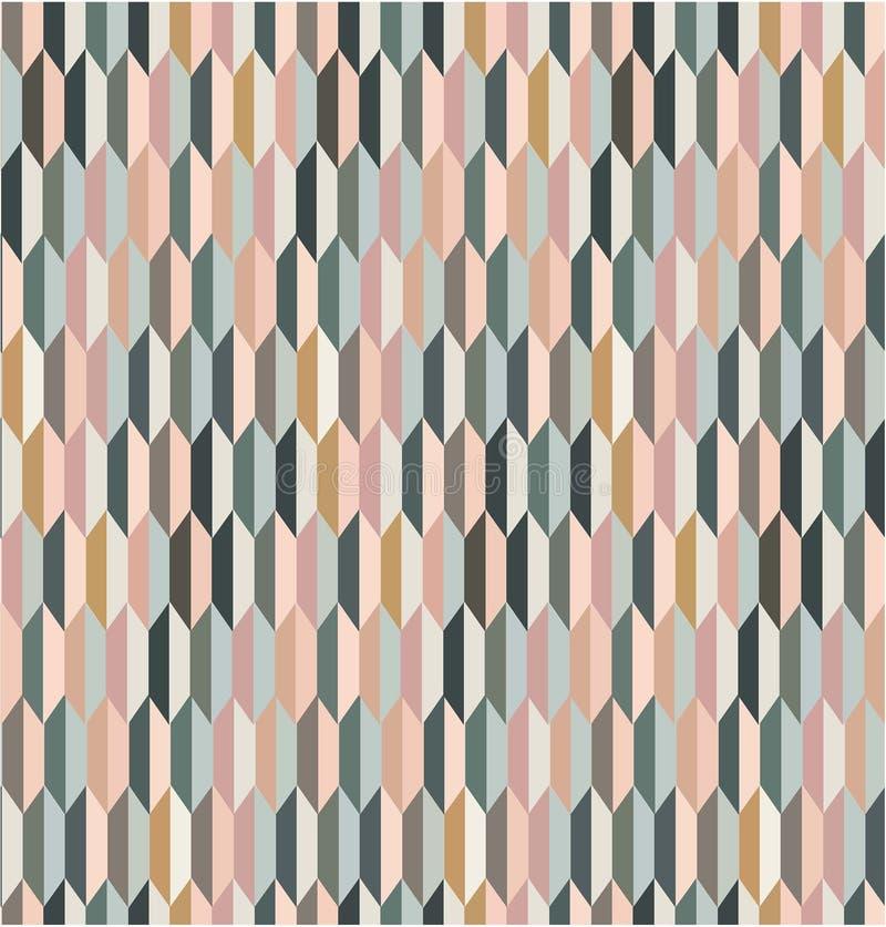 Geometrycznego colorfull wektoru wzoru bezszwowa płytka ilustracja wektor