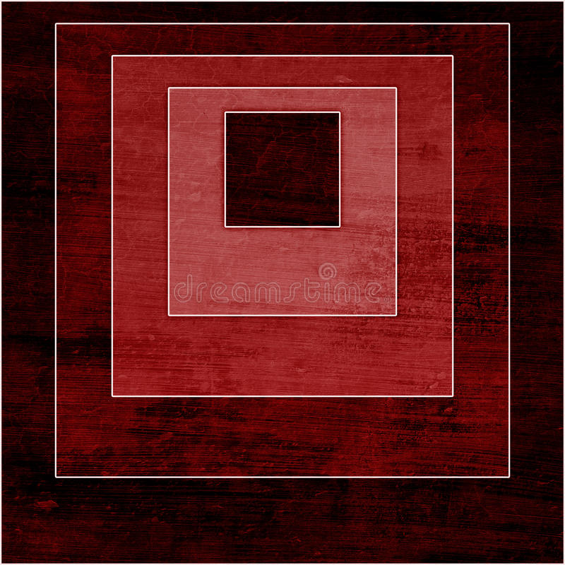 Geometrycznego grunge kolorowy tło z kwadratami royalty ilustracja