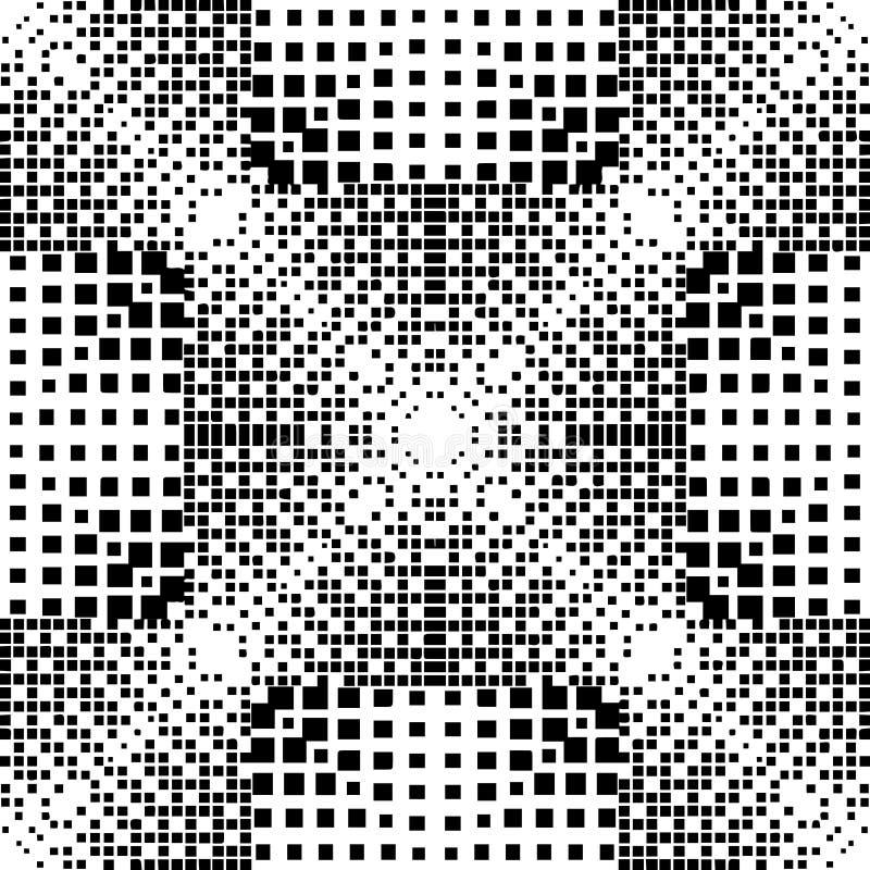 Geometrycznego halftone wektorowy bezszwowy wzór Abstrakcjonistyczny czeka dotte ilustracji