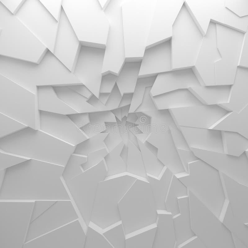 Geometrycznego koloru wieloboków abstrakcjonistyczna tapeta jako pęknięcie ściana, zdjęcia stock
