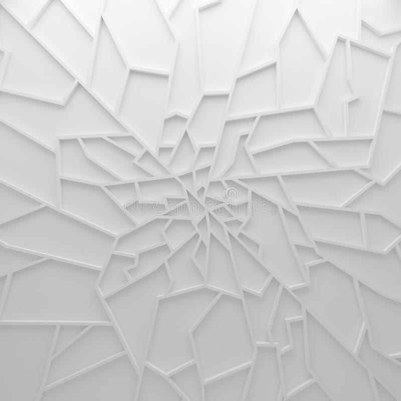 Geometrycznego koloru wieloboków abstrakcjonistyczna tapeta jako pęknięcie ściana, fotografia stock