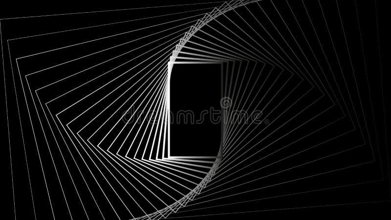 Geometrycznego kształta prostokąta abstrakcjonistycznego tajnego tła projekta wektorowa ilustracja royalty ilustracja