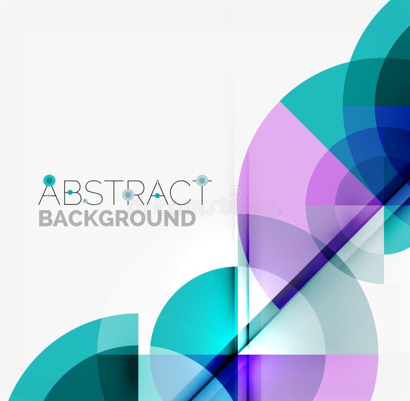 Geometrycznego projekta abstrakcjonistyczny tło - okręgi royalty ilustracja
