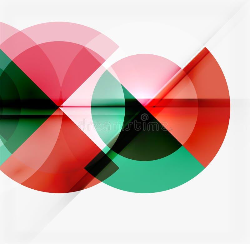 Geometrycznego projekta abstrakcjonistyczny tło - okręgi ilustracji
