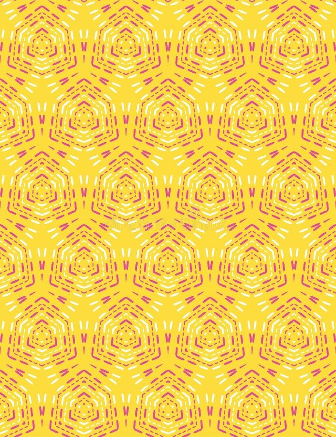 Geometrycznego retro diamentowego ściegu bezszwowy wzór Po ca?ym druku wektoru t?o Etniczny lata boho mody styl modny ilustracja wektor