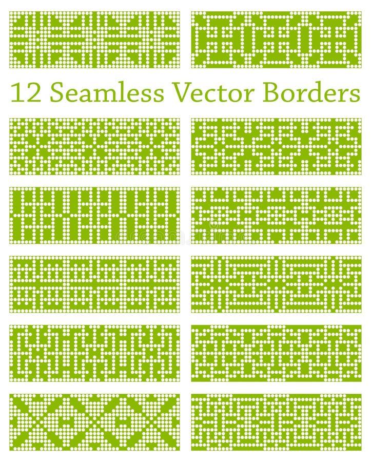 Download 12 Geometrycznej Bezszwowej Granicy Opierającej Się Na Kwadratowych Wzorach, Wektorowa Ilustracja Ilustracja Wektor - Ilustracja złożonej z geometryczny, abstrakt: 57673476