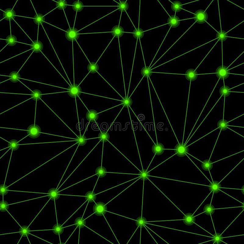 Geometrycznej siatki Bezszwowy wzór ilustracji