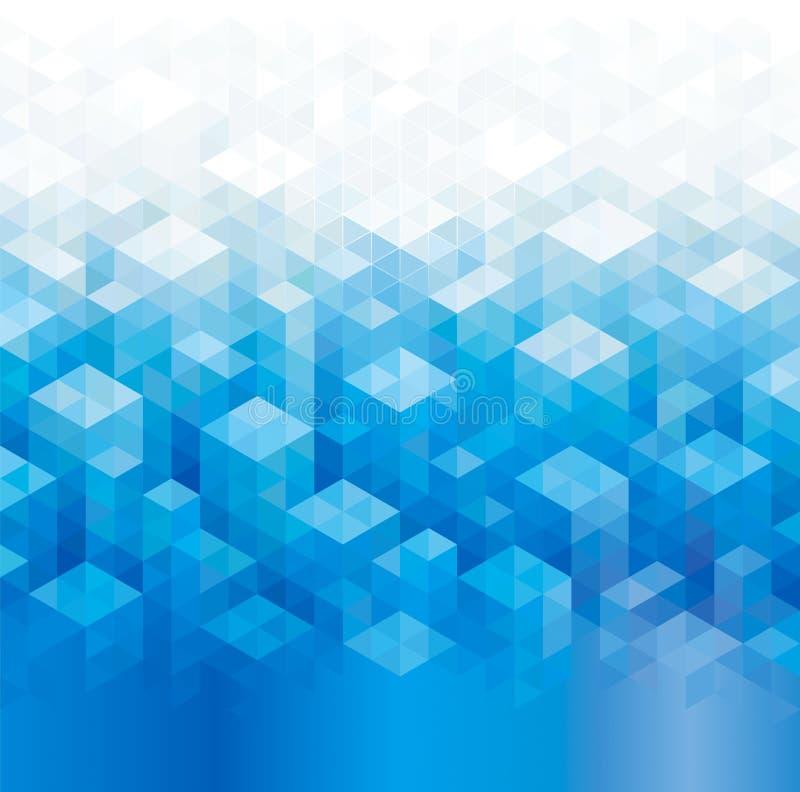 Geometryczni Błękitni tła ilustracji