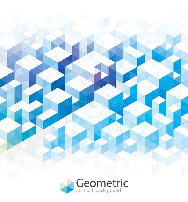 Geometryczni Błękitni tła ilustracja wektor