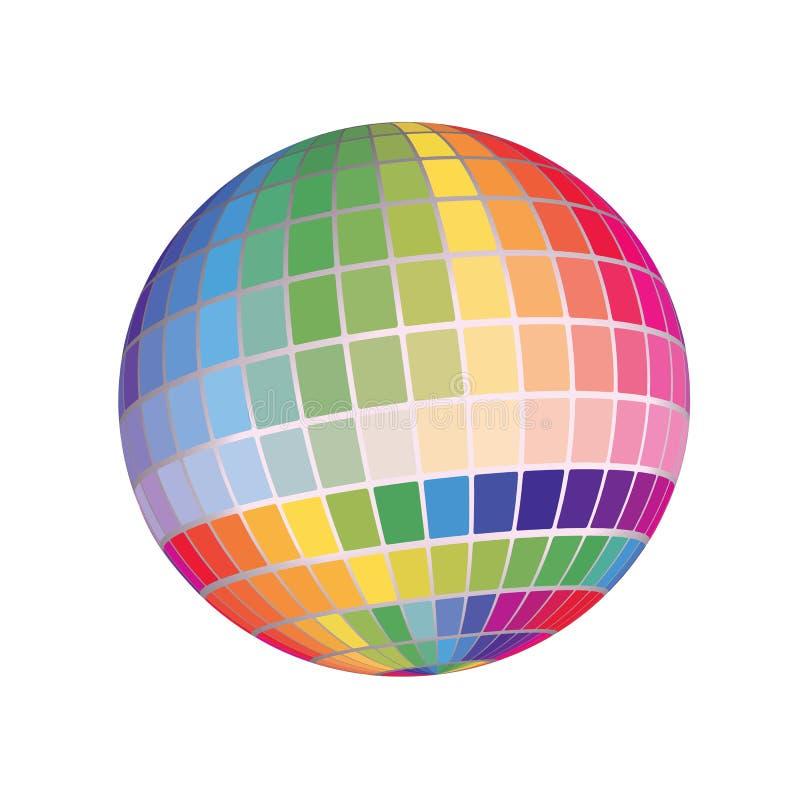 Geometryczni 3D Odpłacają się Abstrakcjonistycznego kuli ziemskiej widmo Kolorowa mapy tła ilustracja ilustracji