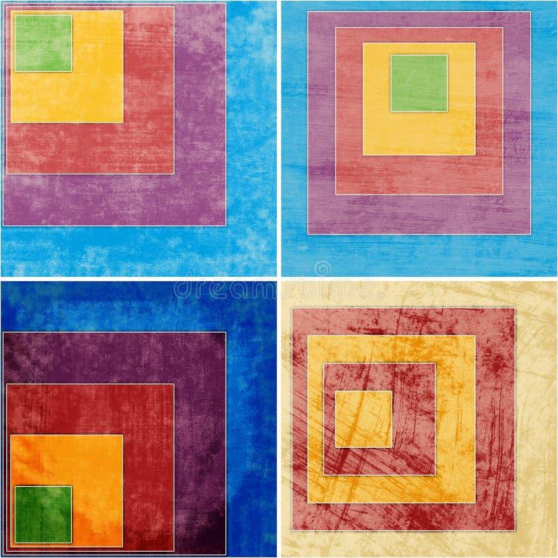 Geometryczni grunge tła ilustracji