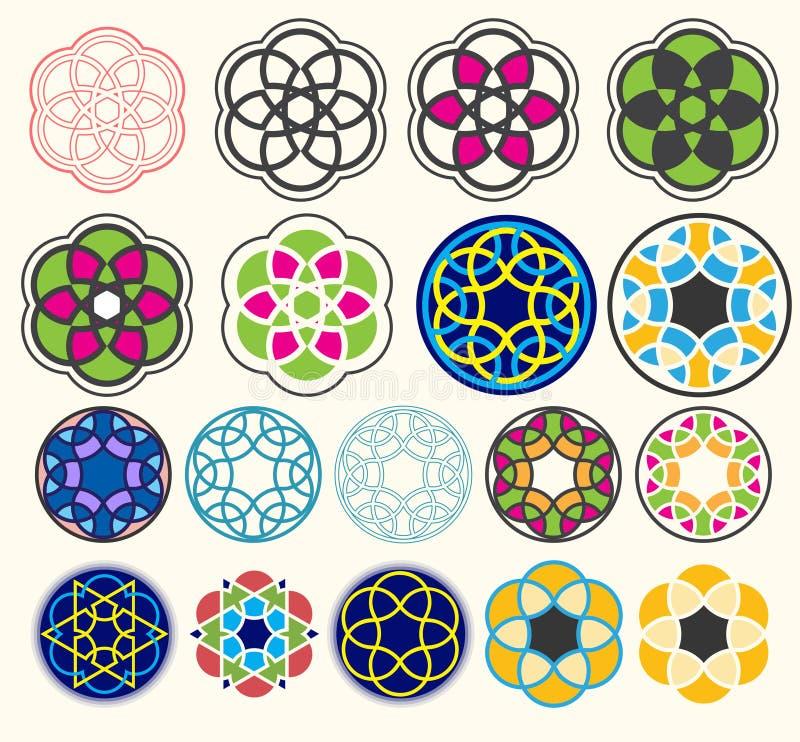 Geometryczni kształta projekta sety ilustracji