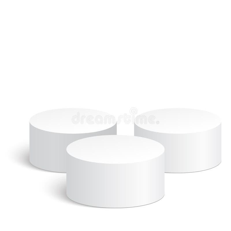 Geometryczni kształty, 3d butla ilustracja wektor
