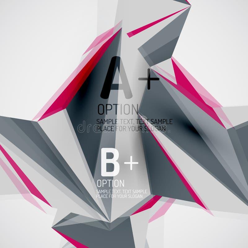 Geometryczni kształty w powietrzu 3 abstraktów d bacground tekstury wektora ilustracja wektor