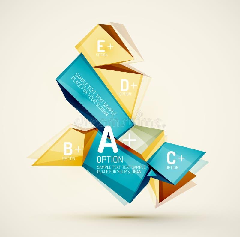 Geometryczni kształty z próbka tekstem Abstrakt ilustracja wektor