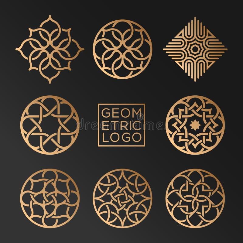 Geometryczni logowie royalty ilustracja