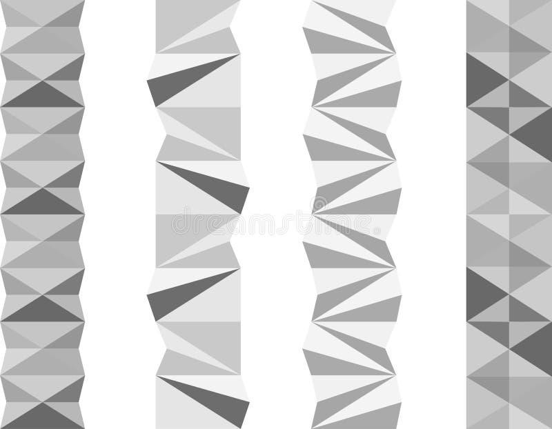 Geometryczni oddzielacze zdjęcie royalty free