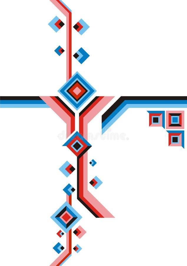 geometryczni składów kwadraty obrazy royalty free