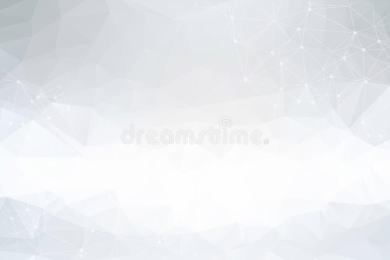 Geometryczny abstrakcjonistyczny futurystyczny tło z związaną linią i kropkami Graficzny tło dla twój projekta, technologii tło, ilustracja wektor
