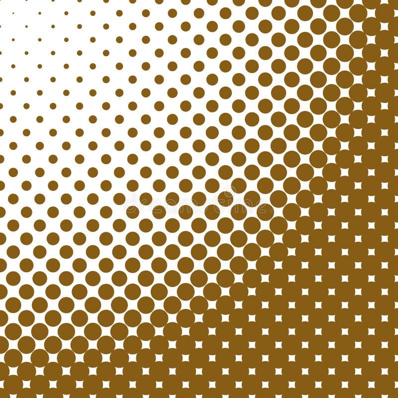 Geometryczny abstrakcjonistyczny halftone kropki wzoru tło - wektorowa ilustracja royalty ilustracja