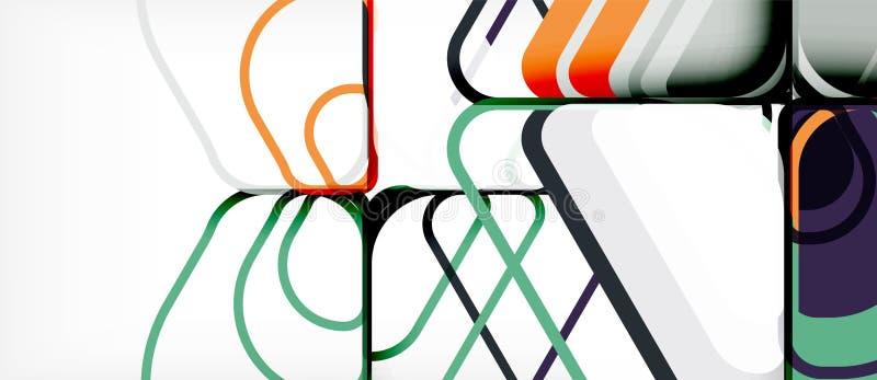 geometryczny abstrakcjonistyczny tło royalty ilustracja