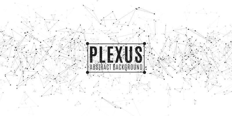 geometryczny abstrakcjonistyczny tło Plexus pokrywa nowoczesne projektu Latający trójboki odizolowywający na białym tle Związani  ilustracja wektor