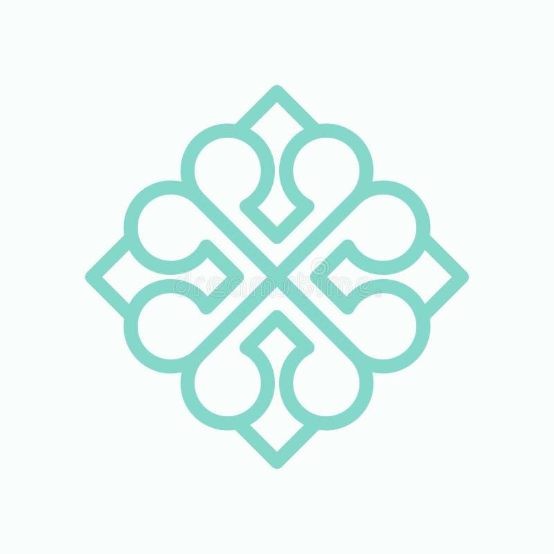 Geometryczny arabski loga wzór ilustracji