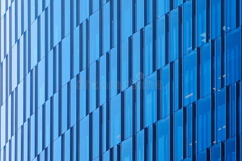 Geometryczny architektoniczny miastowy tło Szklana ściana nowożytny budynek w Mexico - miasto obraz royalty free