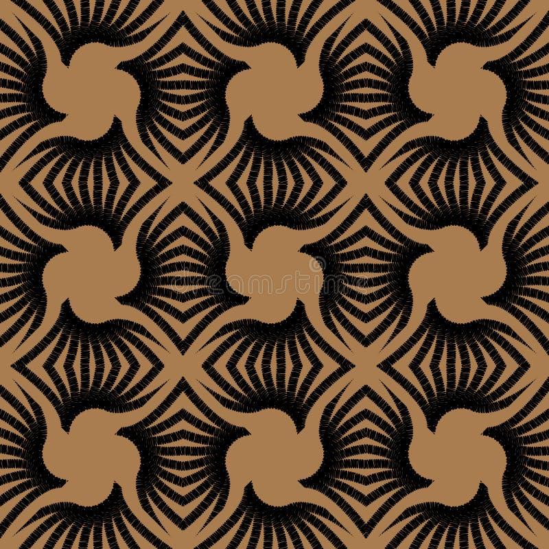 Geometryczny art deco rocznika wzór ilustracja wektor