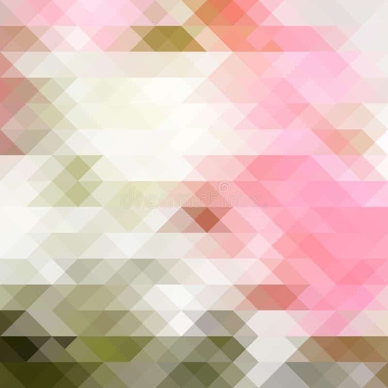 Geometryczny błogości tło ilustracji