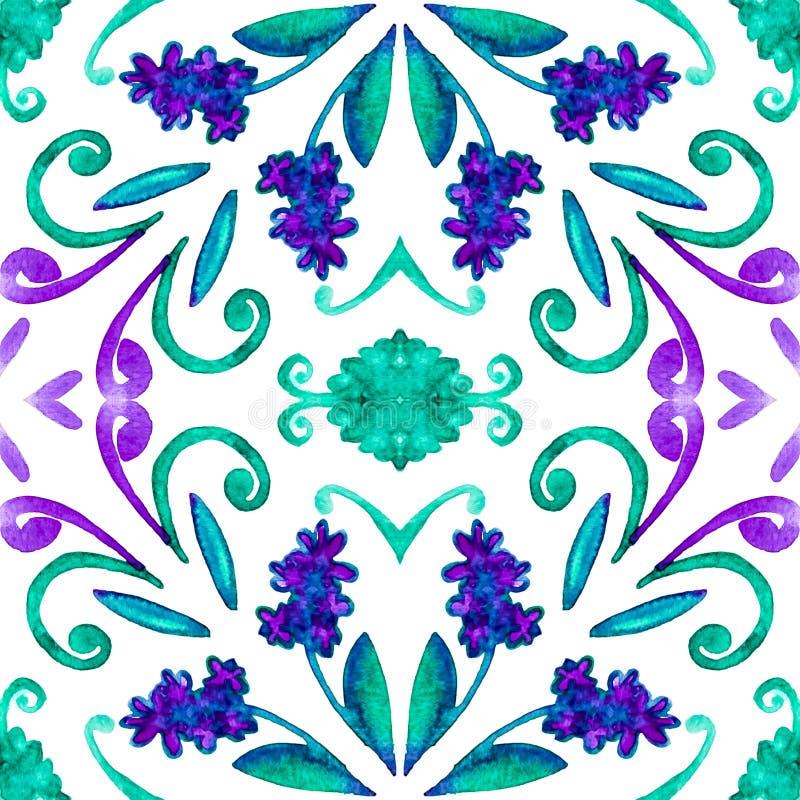 Geometryczny bezszwowy akwareli t?o kleksy, kapinosy, niestaranna akwarela acrylic kolor?w papier ilustraci papier zdjęcie royalty free